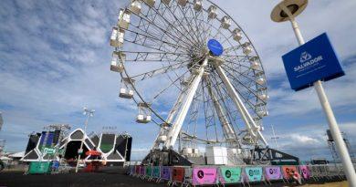 Resultado de imagem para Roda-gigante e tirolesa são opções de lazer e aventura no festival