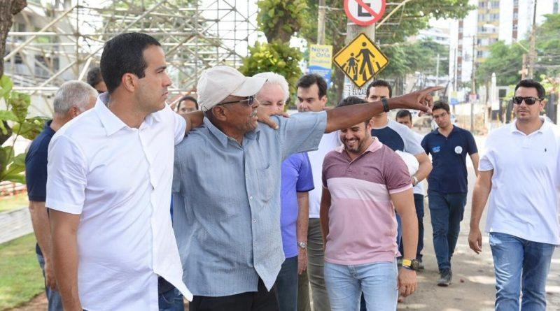 Requalificação da orla em Ondina será entregue antes do Carnaval, garante Bruno Reis