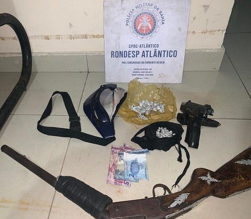 Pistola de fabricação turca apreendida com traficante