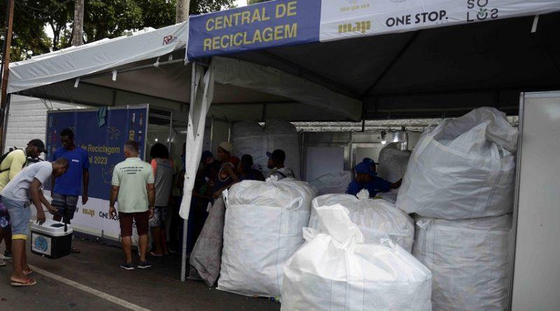 Carnaval já recolheu quase 40 toneladas de material reciclável