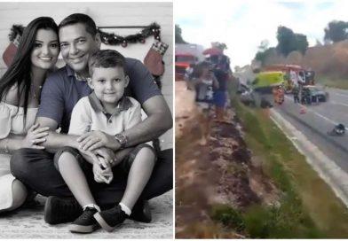 Vereador, esposa e filho de 4 anos morrem em grave acidente