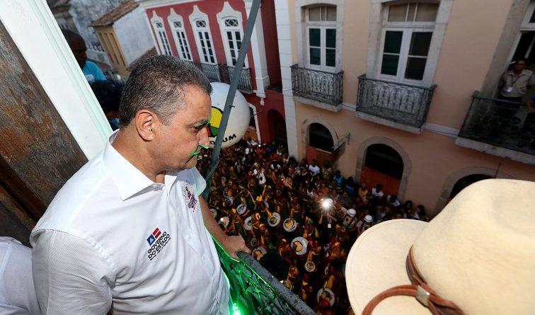Governador participa da saída do Olodum e abre o Carnaval do Pelourinho