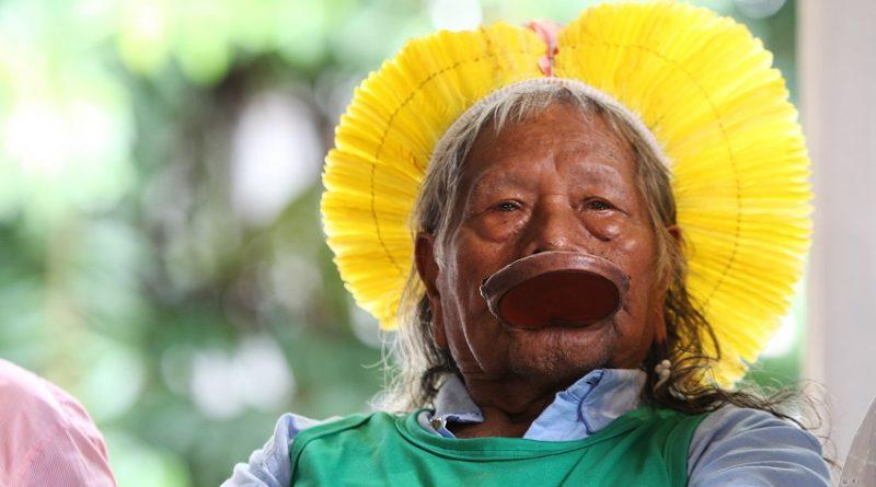 Em Salvador, Cacique Raoni faz defesa dos direitos dos povos indígenas