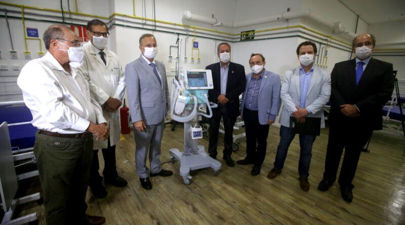 Quarenta respiradores chegam ao Hospital de Campanha Arena Fonte Nova
