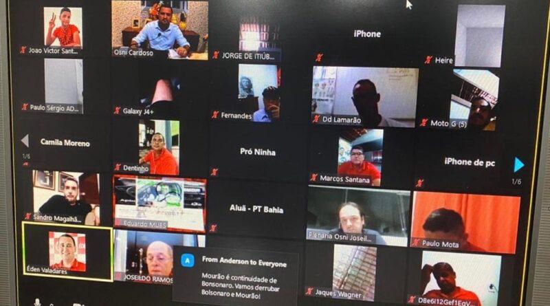 Osni Cardoso e Joseildo Ramos comemoram sucesso da plenária online que discutiu Eleições 2020 e conjuntura política nacional