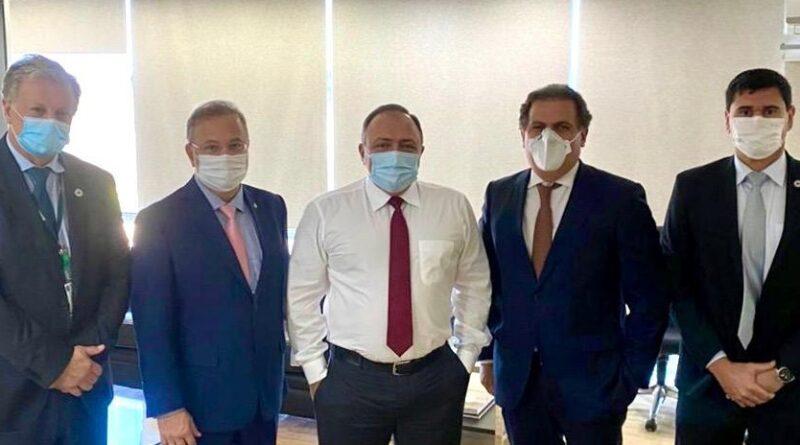 Em reunião com Pazzuello, Bahia assegura mais de R$ 43 milhões em recursos federais para o coronavírus