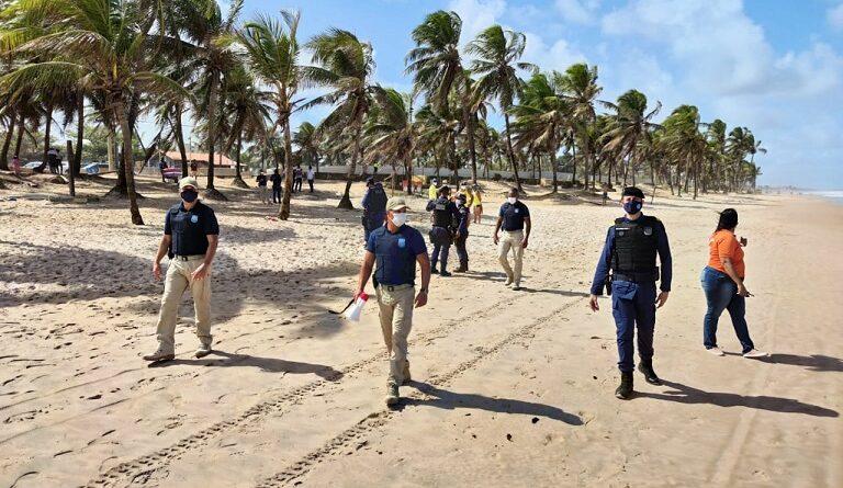 Reabertura das praias terá fiscalização intensa da Guarda nesta segunda