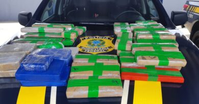 Barreiras:  PRF apreende cocaína, pasta base e maconha escondidos na carroceria de caminhonete