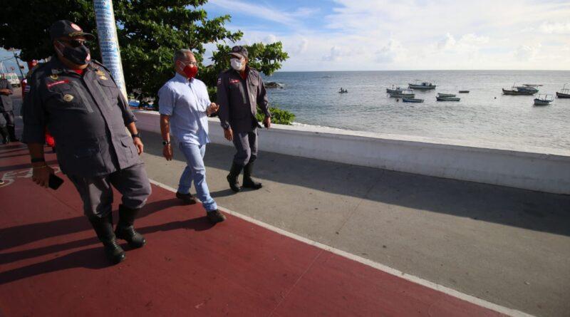 Coordenações estratégicas da SSP e CBM verificam praias de Salvador