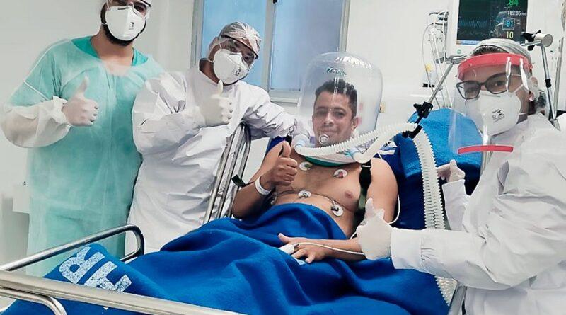 Sesab faz aquisição de 400 capacetes para ventilação mecânica não invasiva de pacientes Covid-19